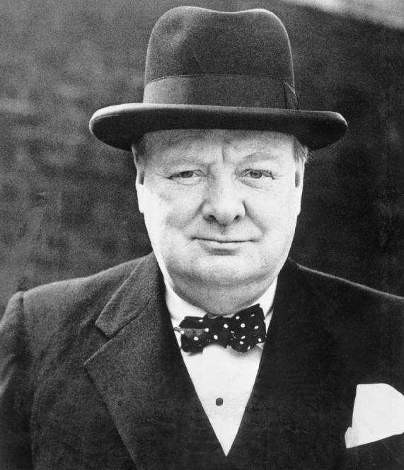 Photo of Winston Churchill.