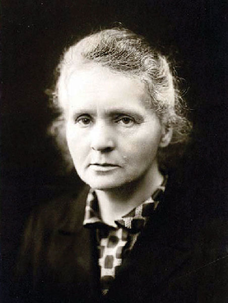 Photo of Madame Marie Curie.