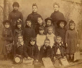 Fred K. Conn as child, historical kindergarten photo.
